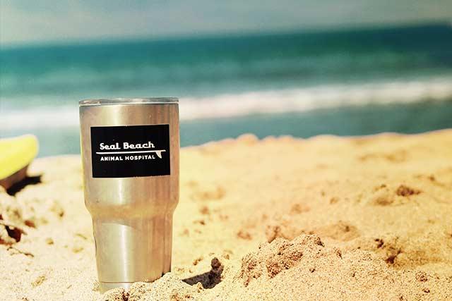 mug on beach